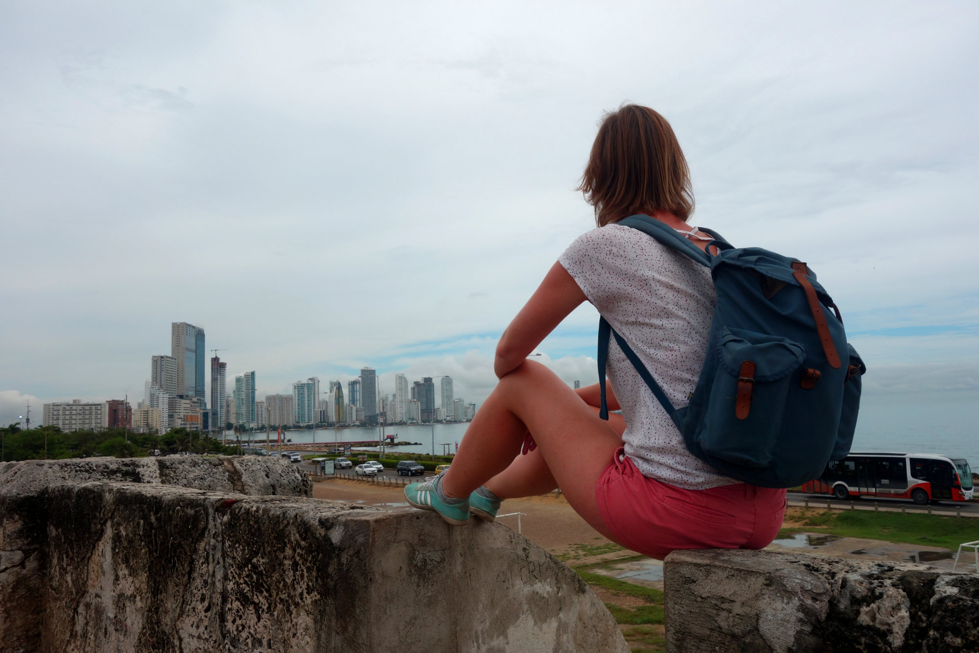 Cartagena Blick auf Hochhäuser Franzi
