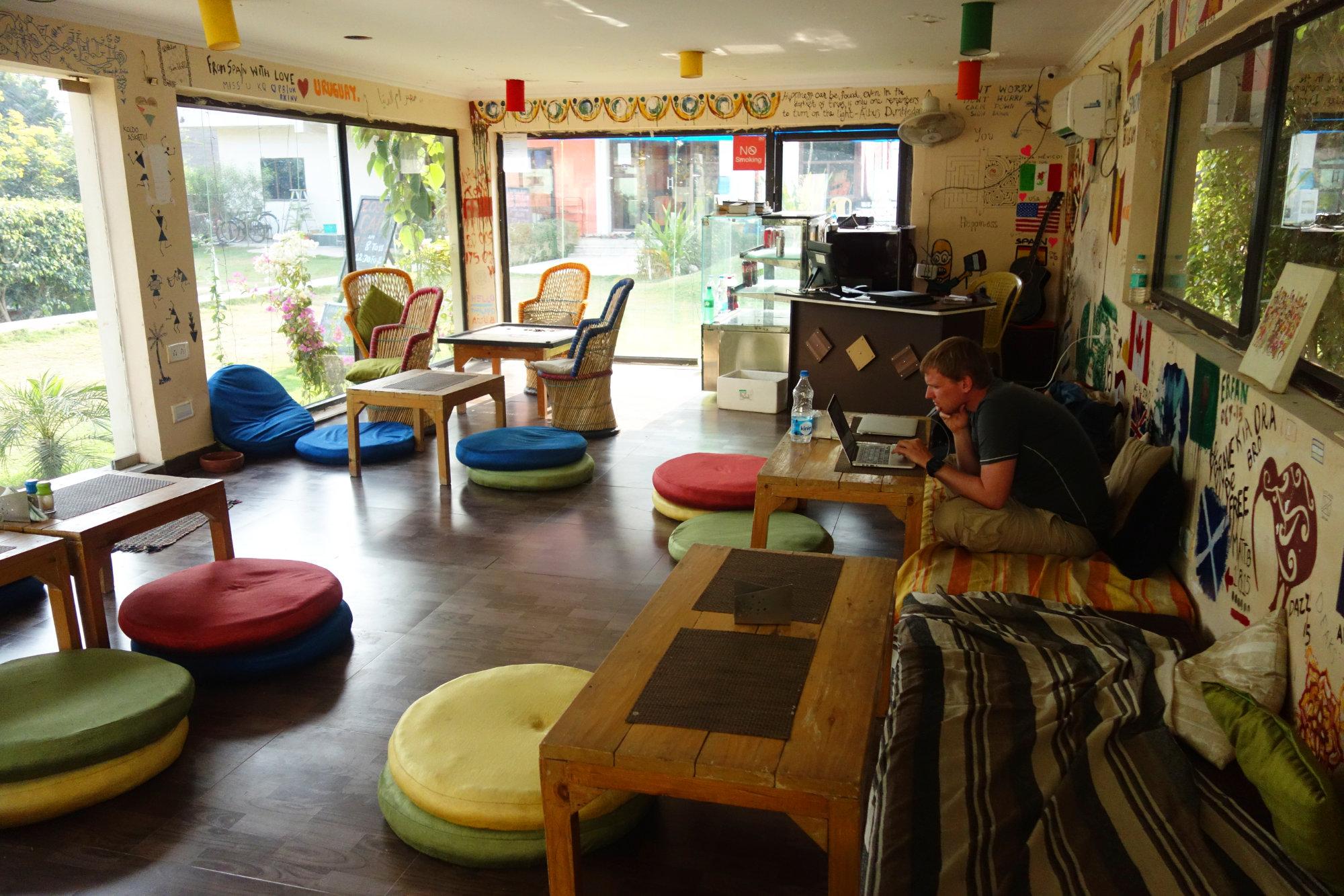 Indien Agra Zostel Cafe