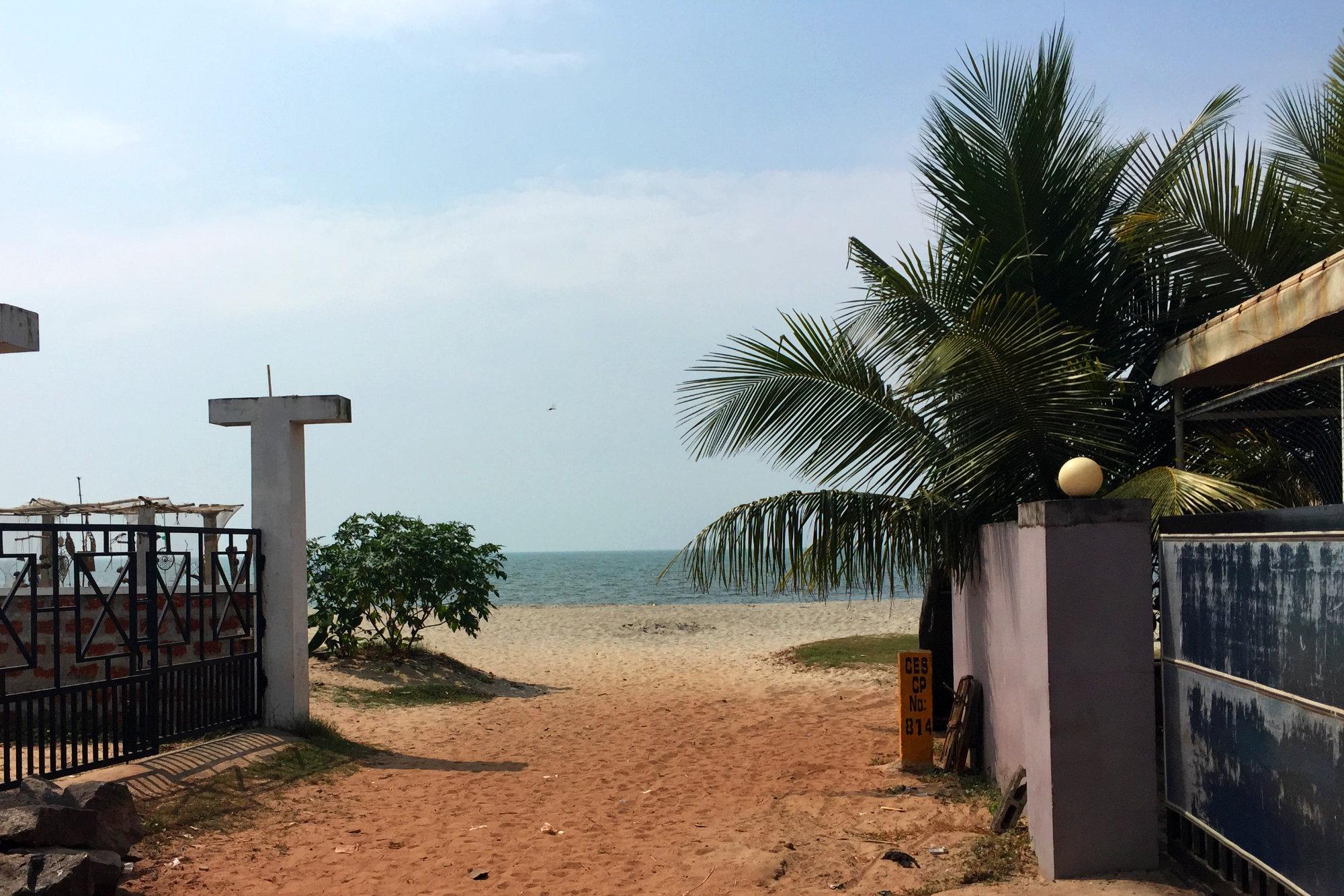 Indien Hotels Alleppey Strandzugang
