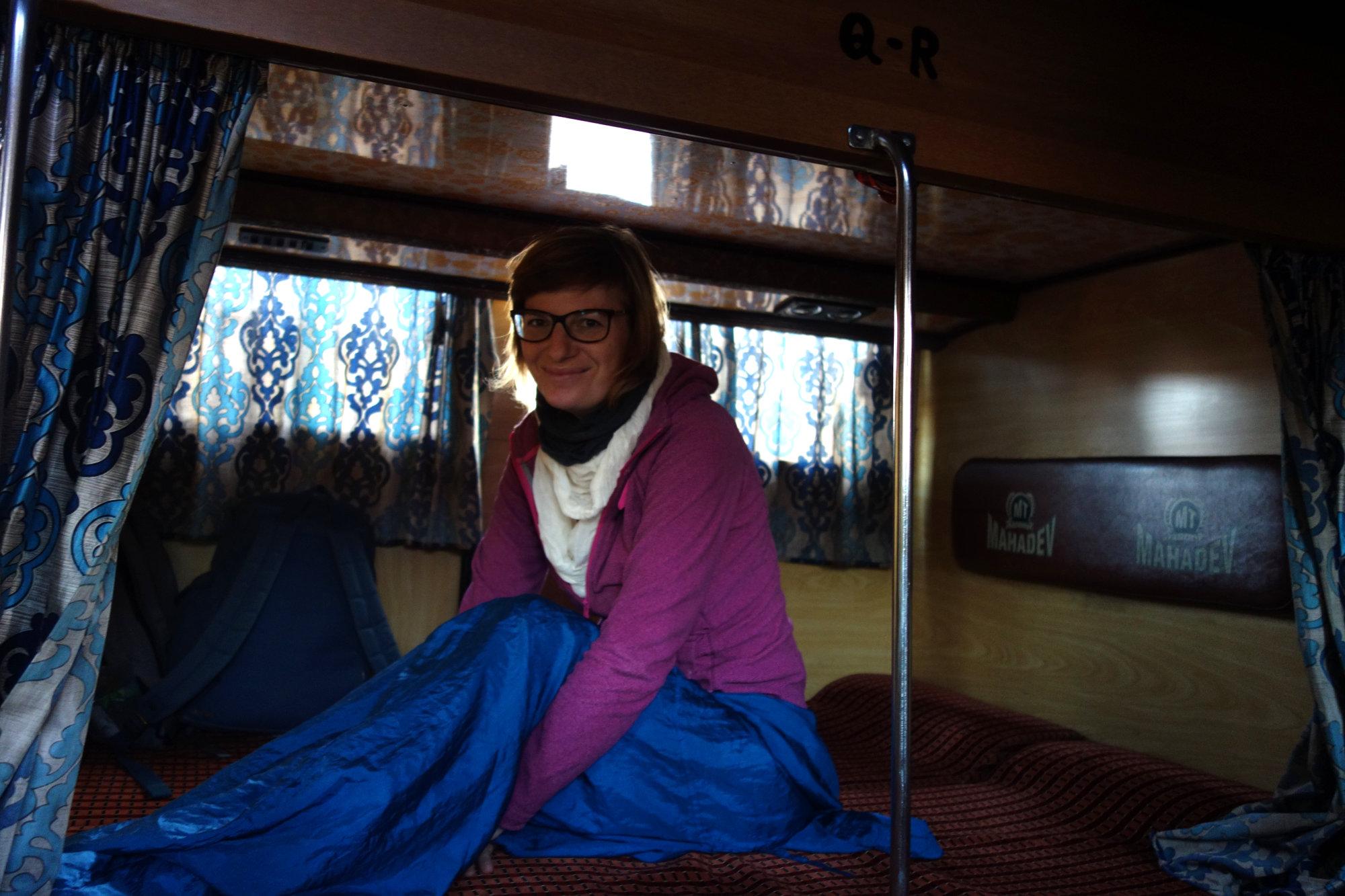 Indien Nachtbus Franzi