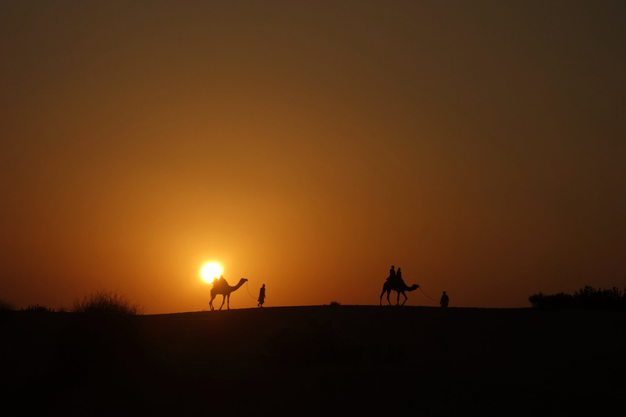 Jaisalmer Kamelsafari Sonnenuntergang
