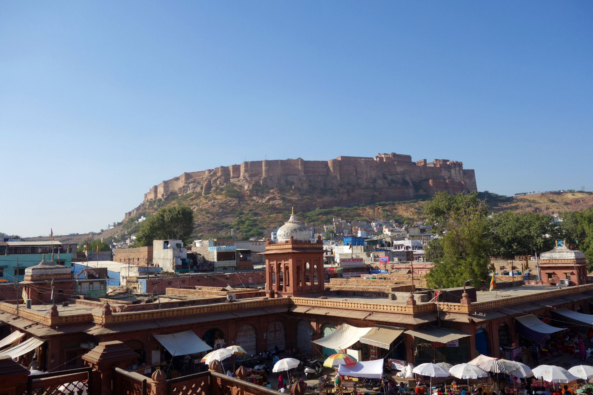 Jodhpur Blick auf Festung vom Hotel