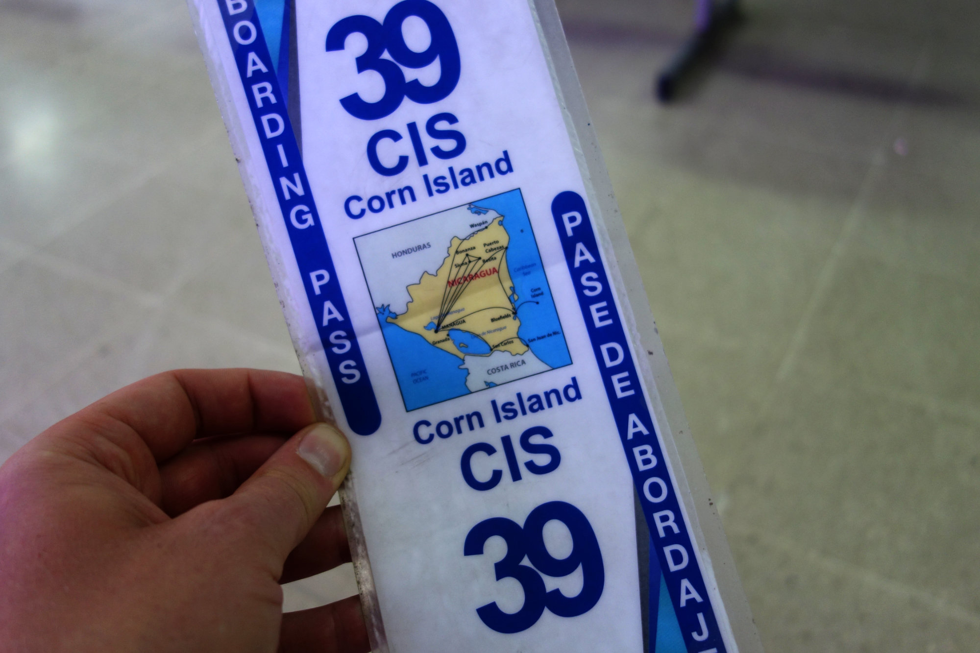 Little Corn Island Boarding Pass