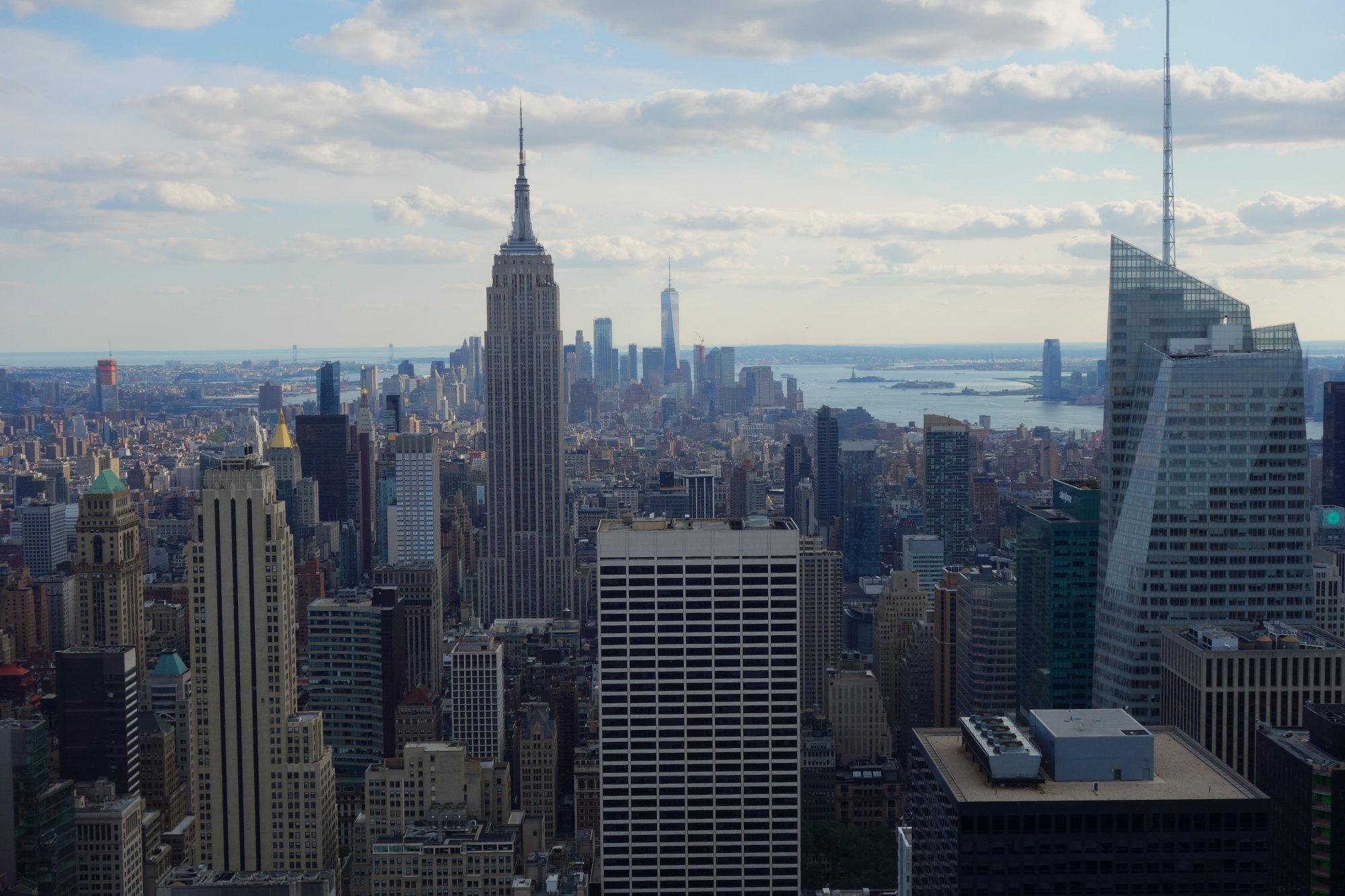 New York Blick vom Rockefeller Center