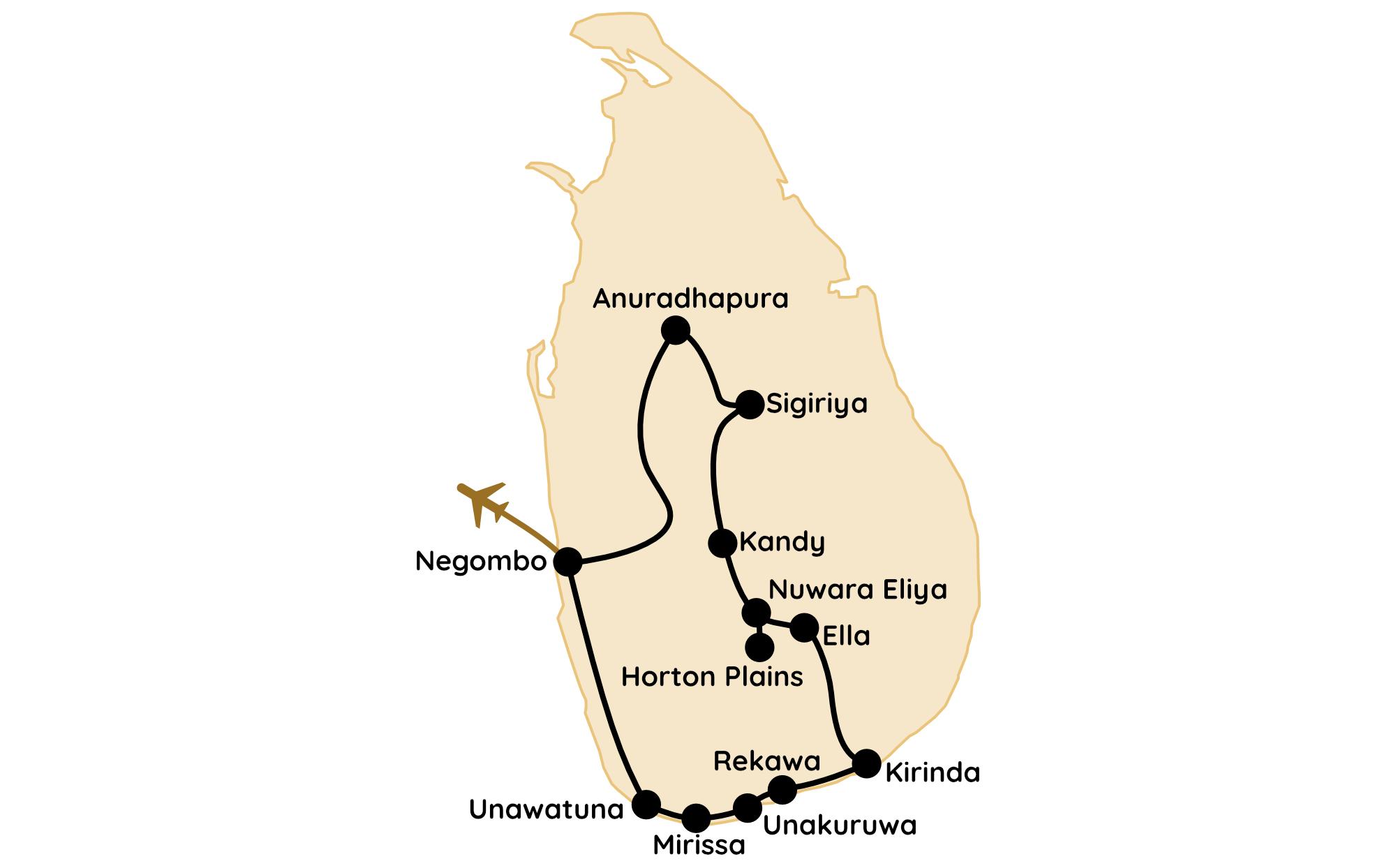 Sri Lanka Route