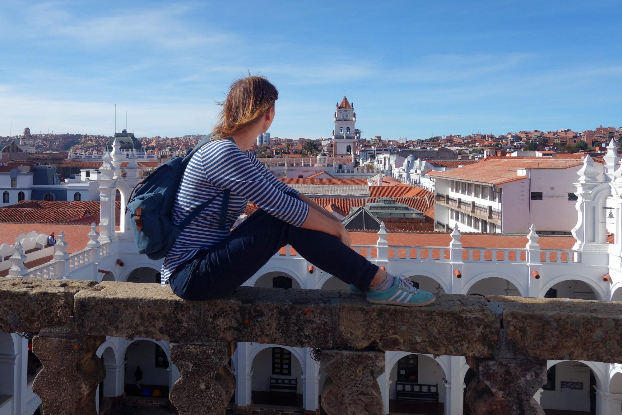Sucre Franzi Blick über Dächer