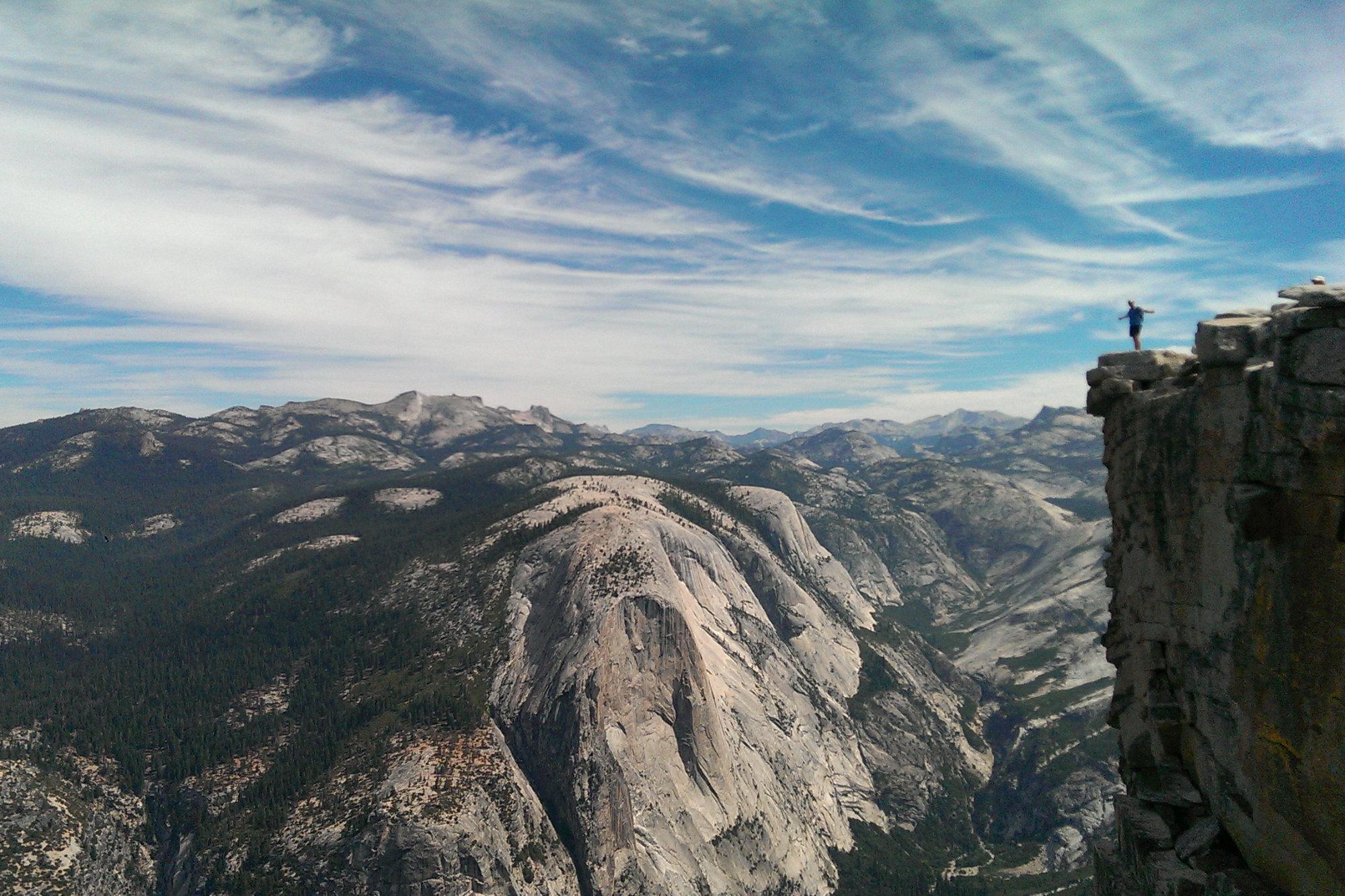 Yosemite Half Dome Wanderung Matthias oben