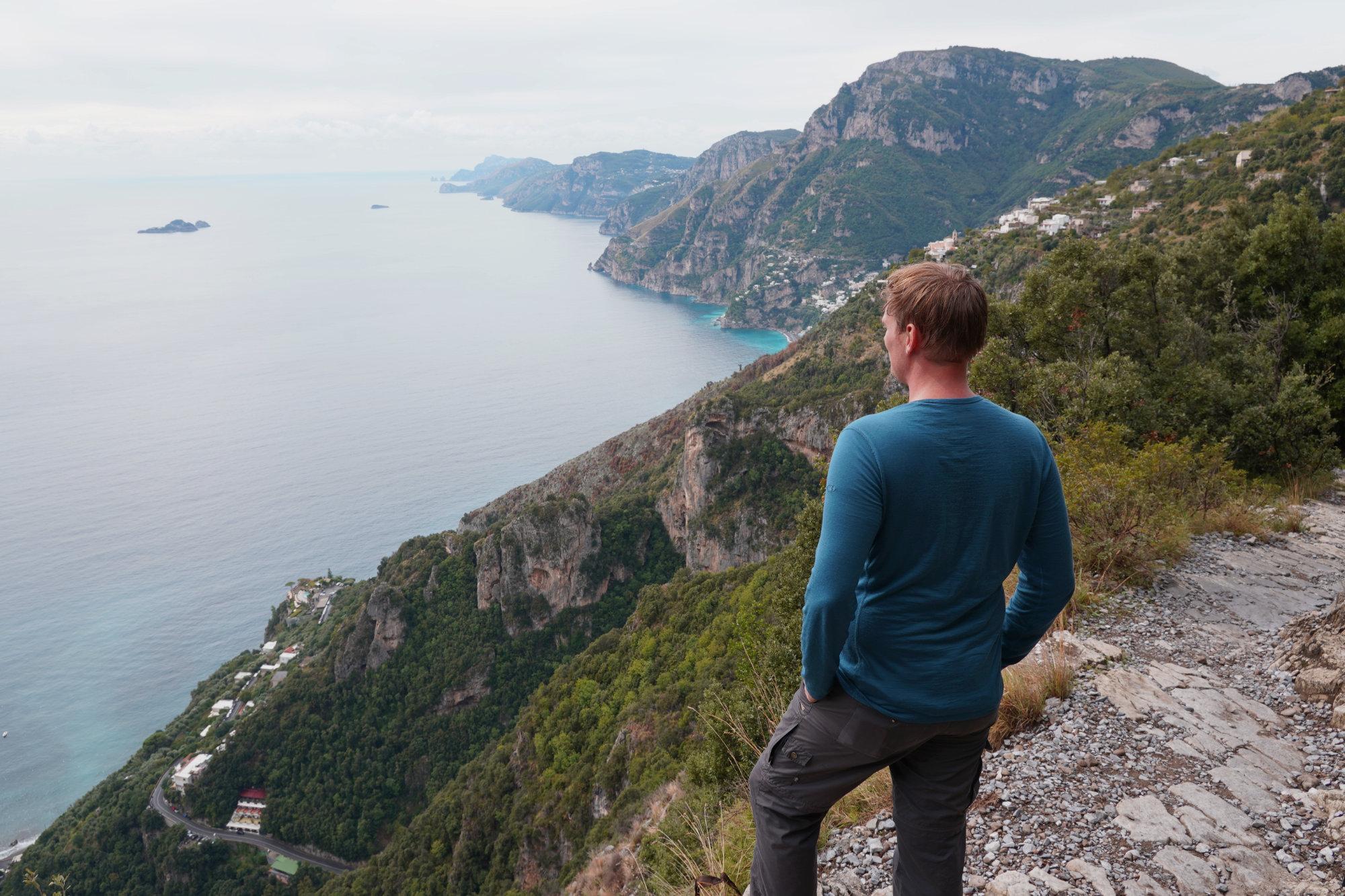Amalfiküste Sentiero degli Dei Matthias vor Küste