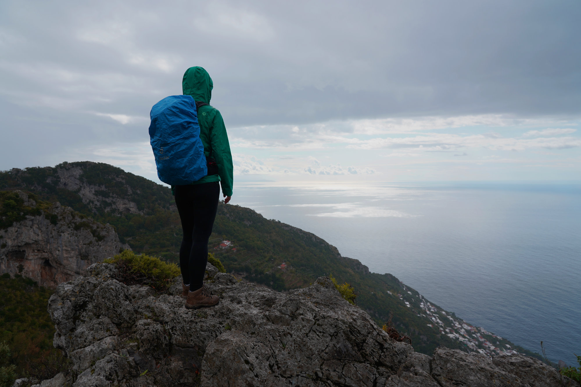 Amalfiküste Sentiero degli Dei Regen Aussicht