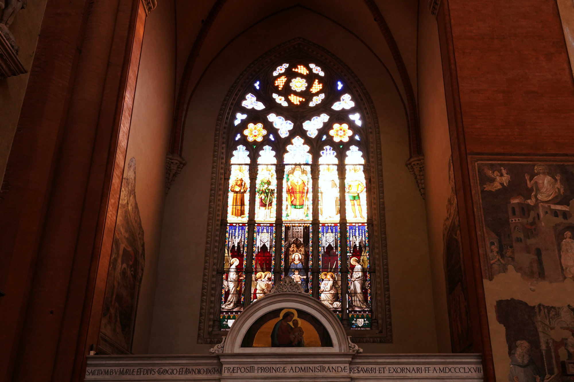 Bologna Basilika San Petronio Glasfenster