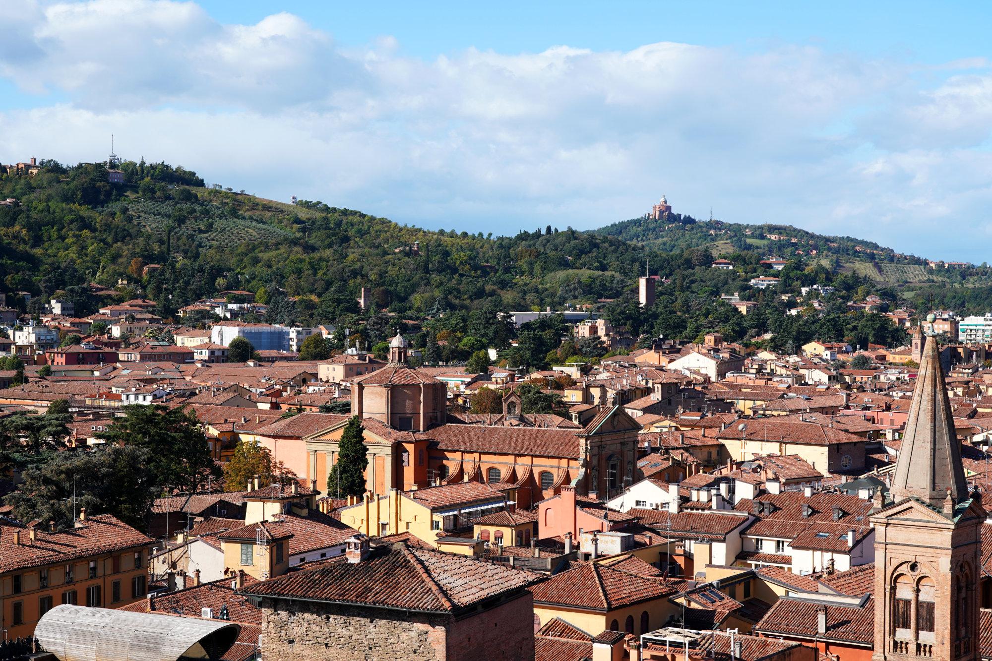 Bologna Blick auf San Luca
