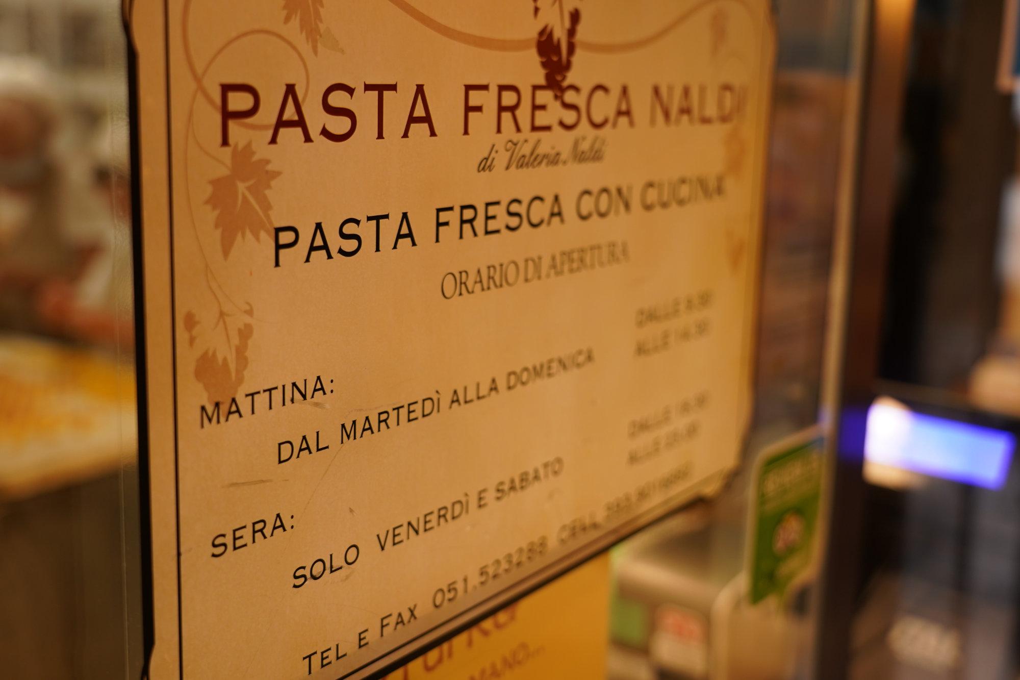 Bologna Pasta Naldi Schild