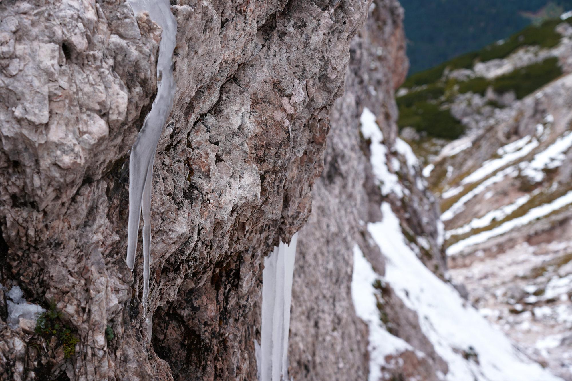 Dolomiten Peitlerkofel Eiszapfen