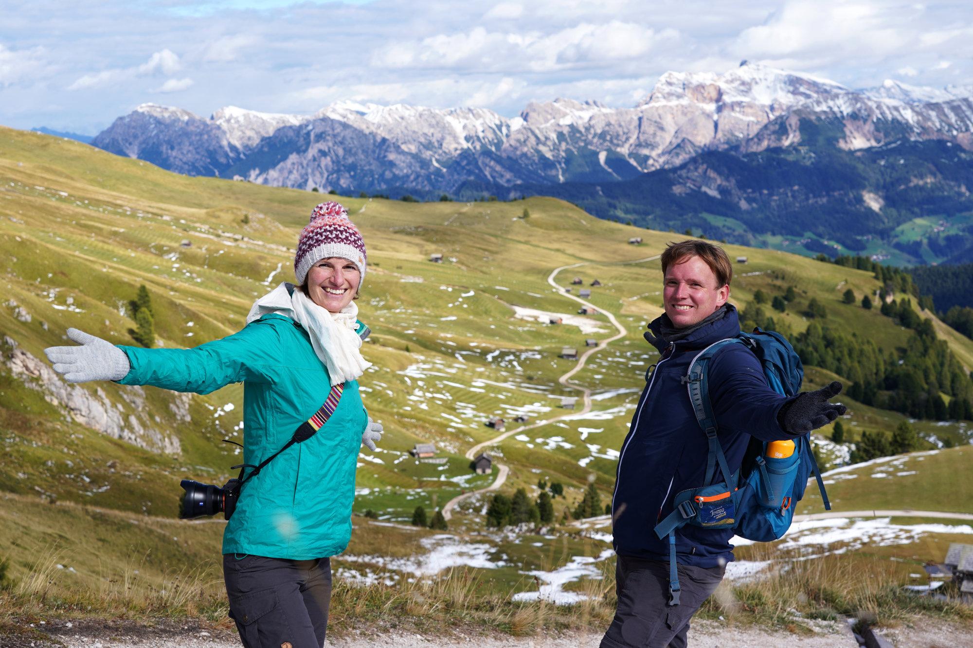 Peitlerkofel Rundwanderung Peitlerwiesen Paar
