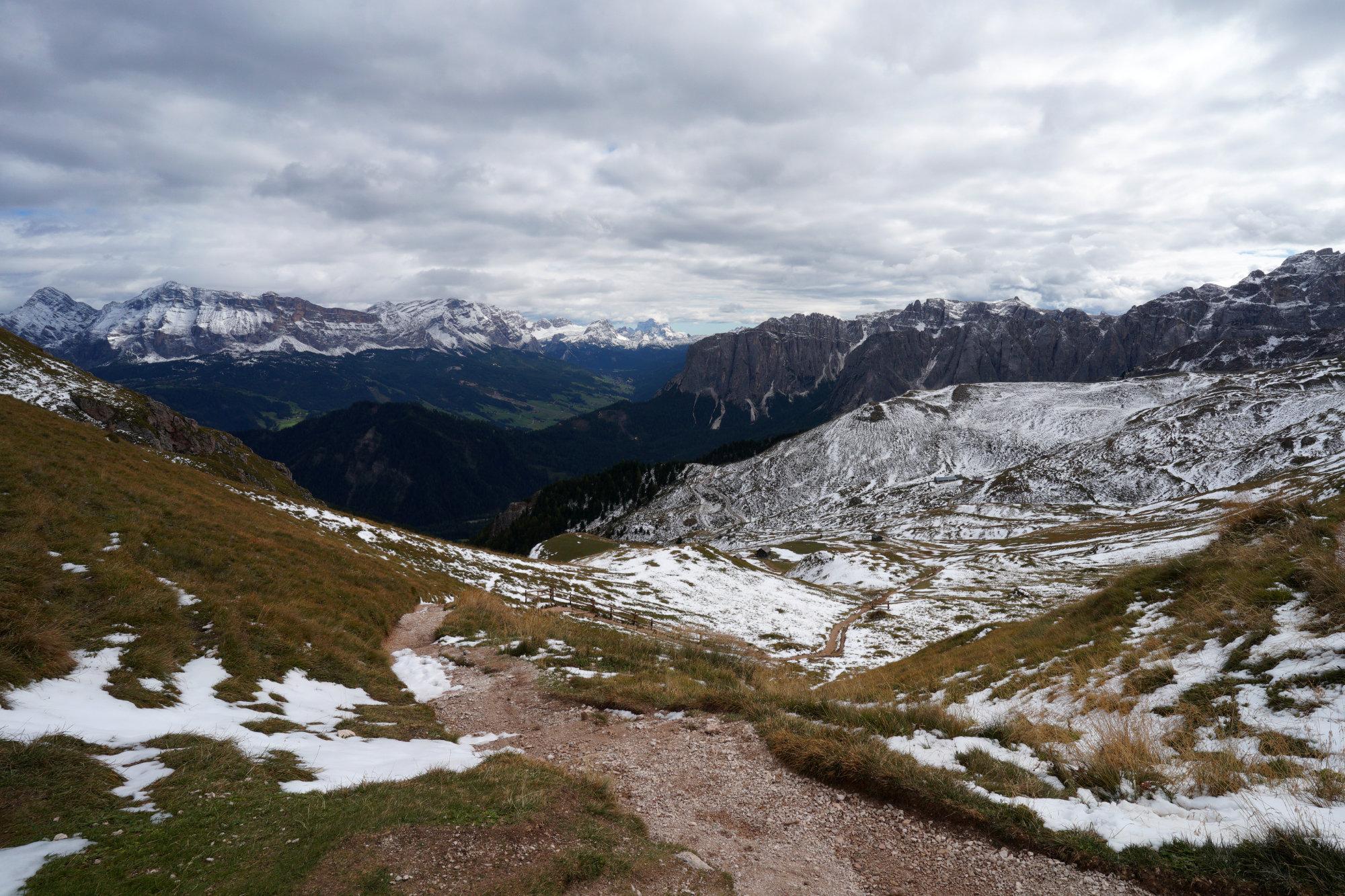 Dolomiten Peitlerkofel Peitlerscharte Bergblick