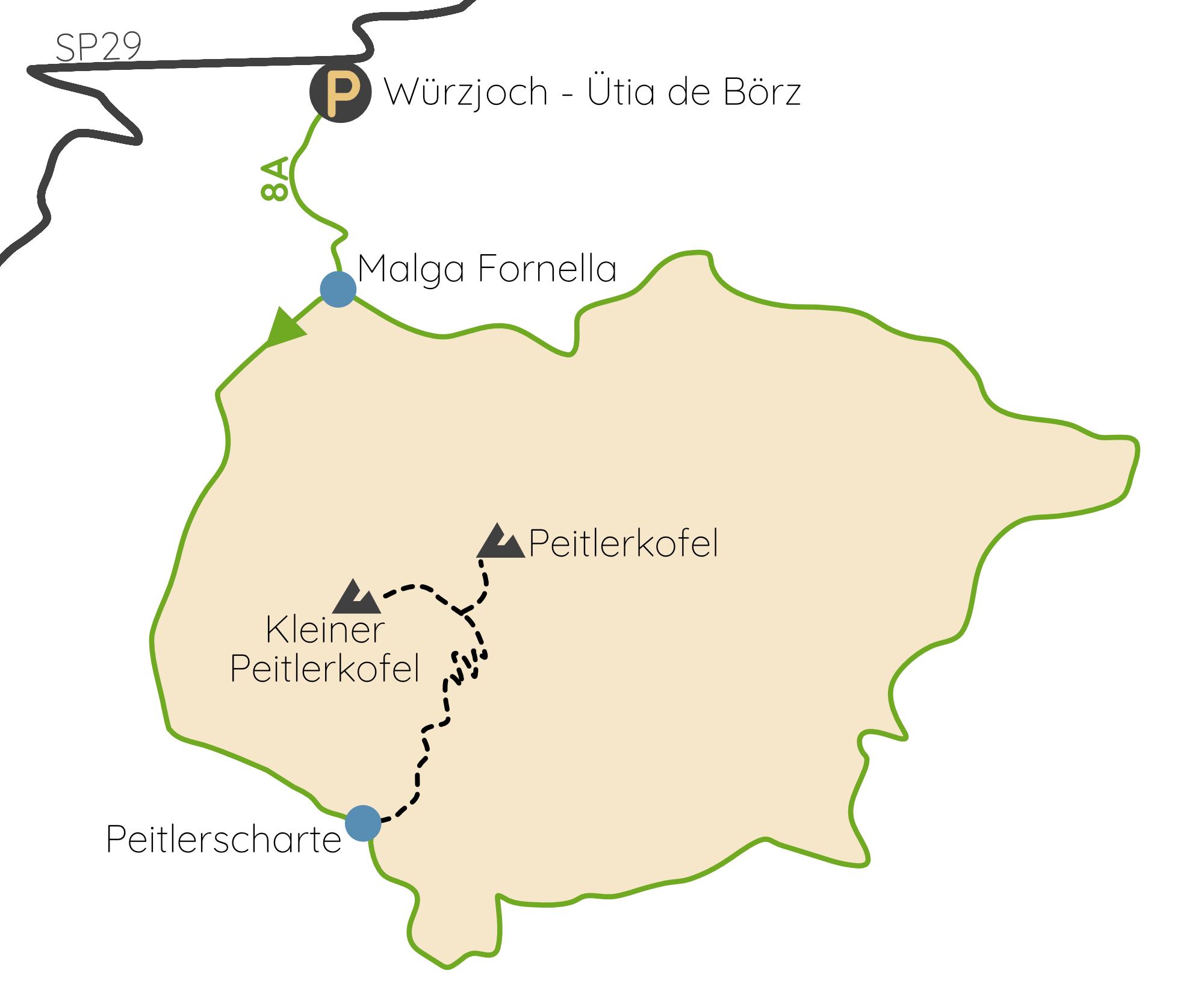 Peitlerkofel Wanderung Karte