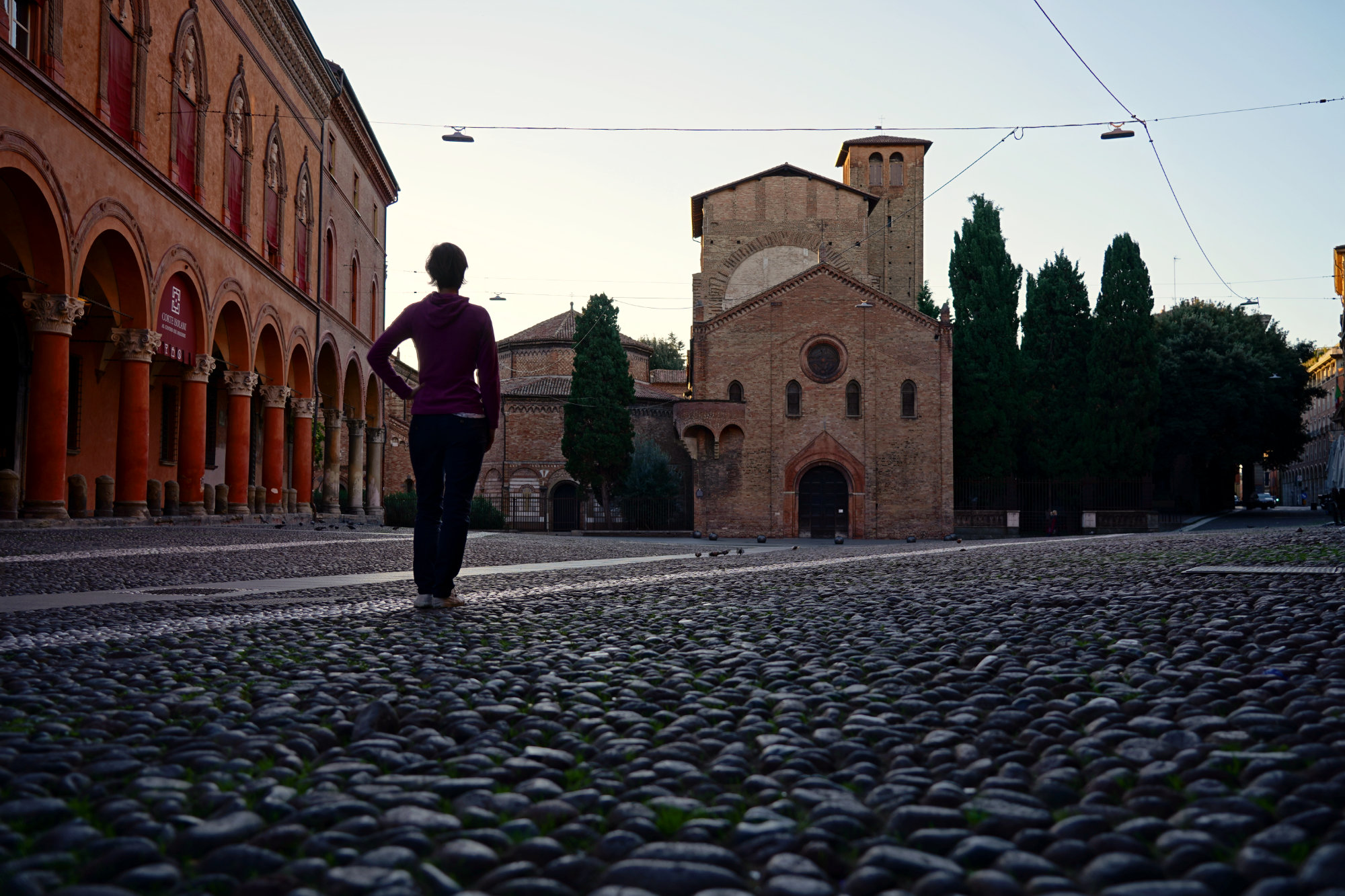 Piazza Santo Stefano morgens Franzi