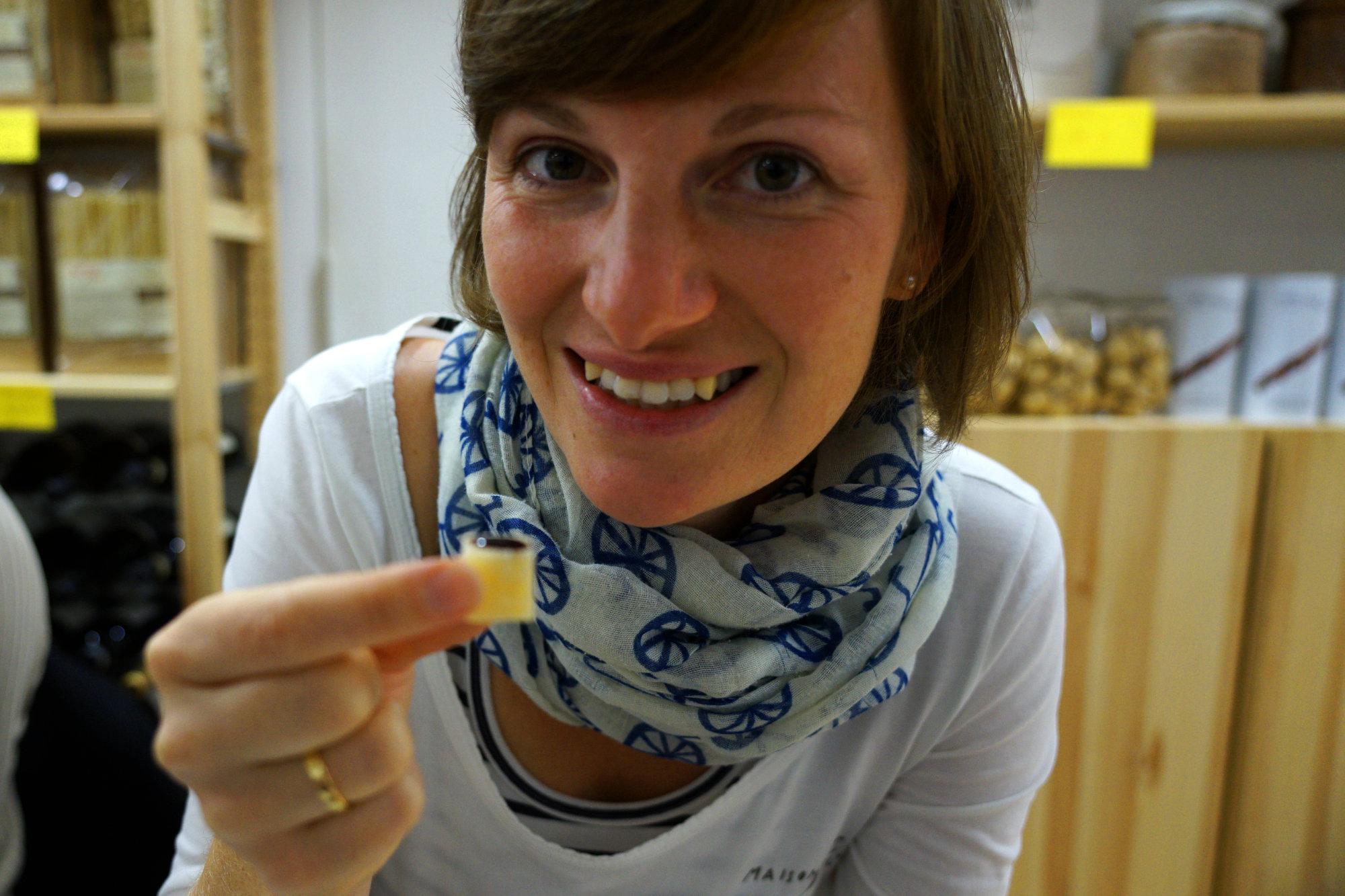 Rom Food Tour Franzi mit Parmesan