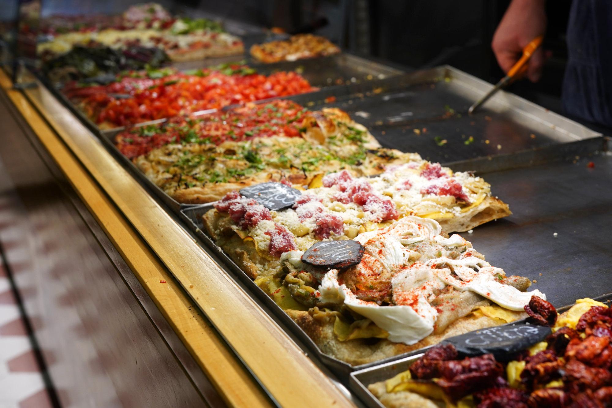 Rom Foodtour Pizzarium Auswahl