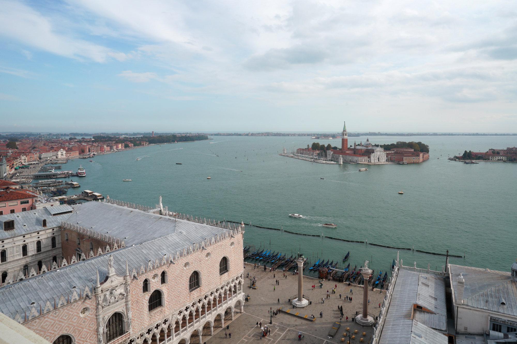 Venedig Campanile Blick Dogenpalast