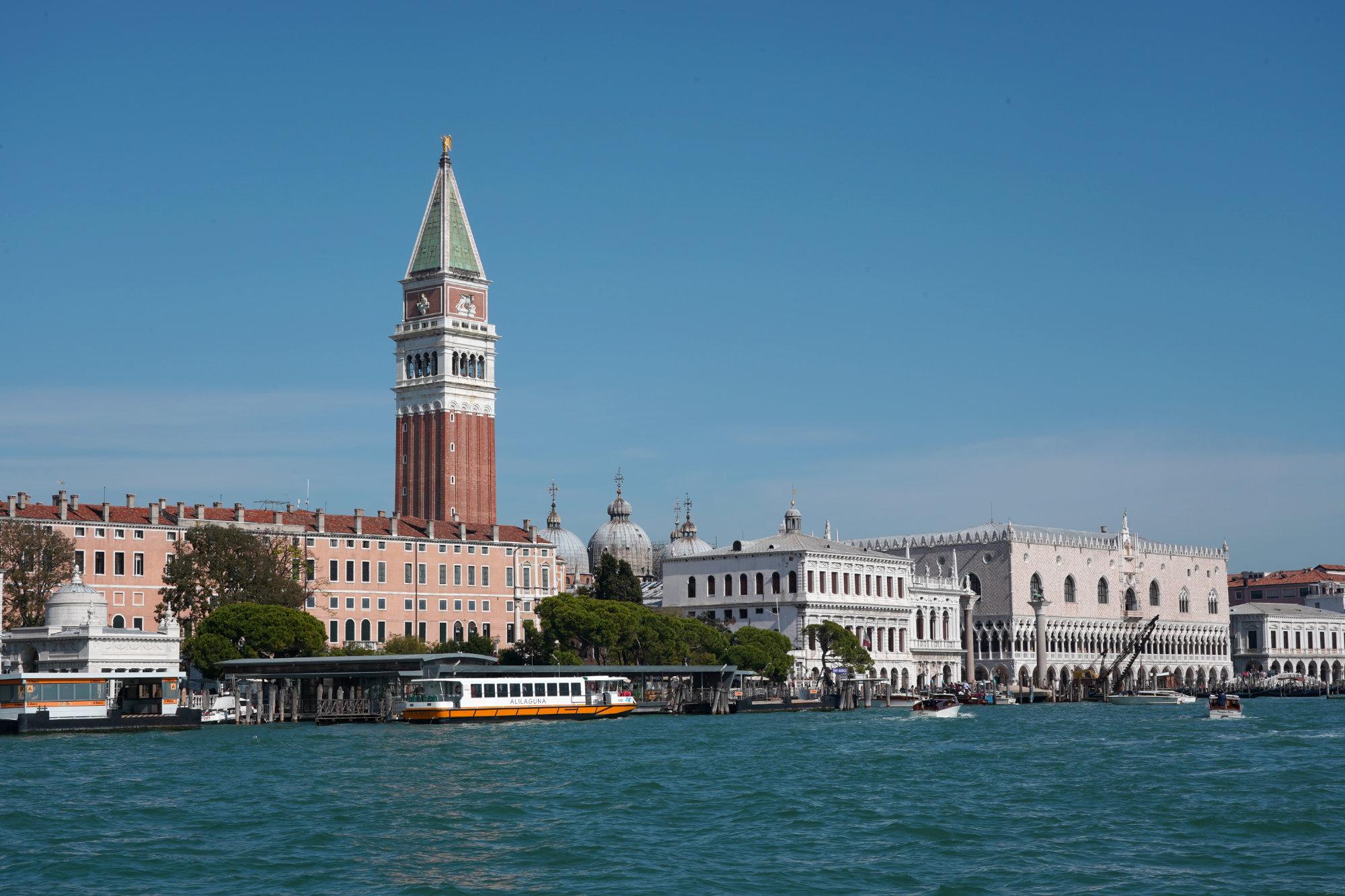 Venedig Punta Dogana Blick Campanile