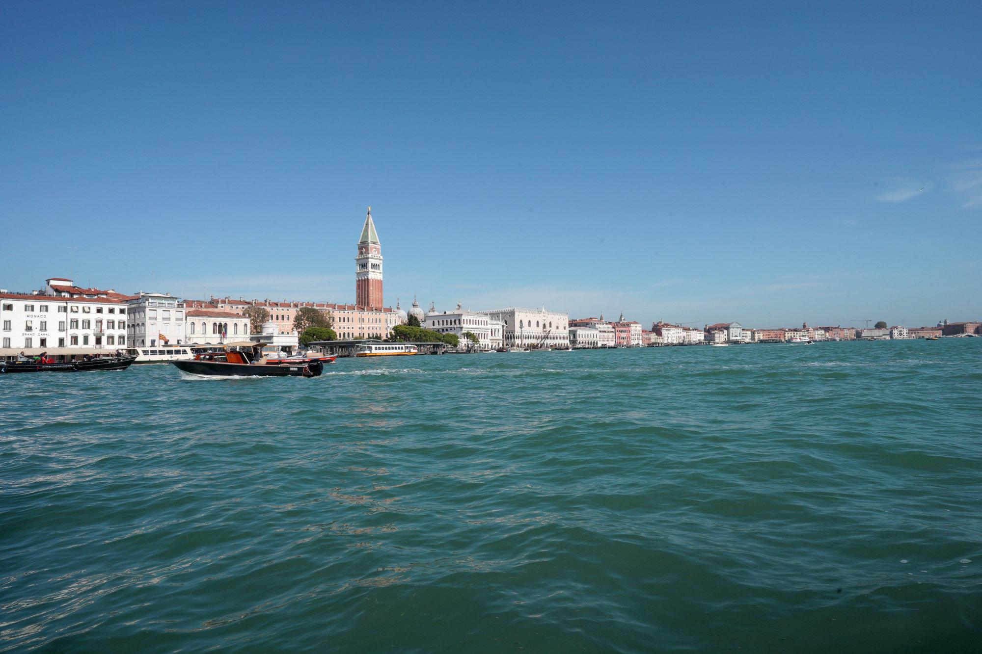 Venedig Punta Dogana Blick weit